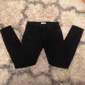 LOFT black jeans, modern skinny, size 2